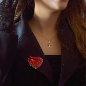 گل سینه قلبی